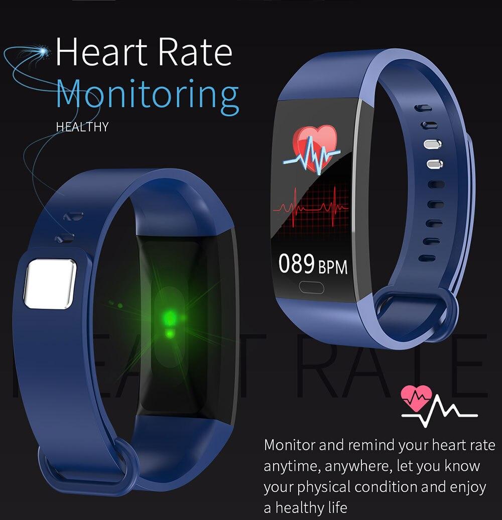 Ha33b62696695455cb1fc9aedb848ae38v Smart Bracelet Blood Pressure Measurement Fitness Tracker Watch Waterproof Heart Rate Monitor Smart Wristband Women Men Watch