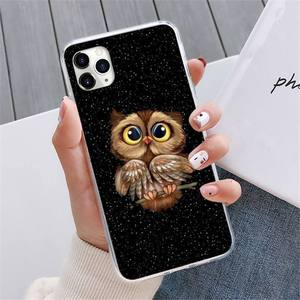Image 2 - Animal Night Owl Lovely Phone Case For iphone 12 5 5s 5c se 6 6s 7 8 plus x xs xr 11 pro max mini