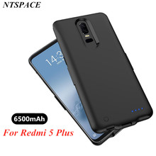 NTSPACE Portable Power Bank cover For Xiaomi Redmi 5 Plus Backup Charging Case 6500mAh Exte