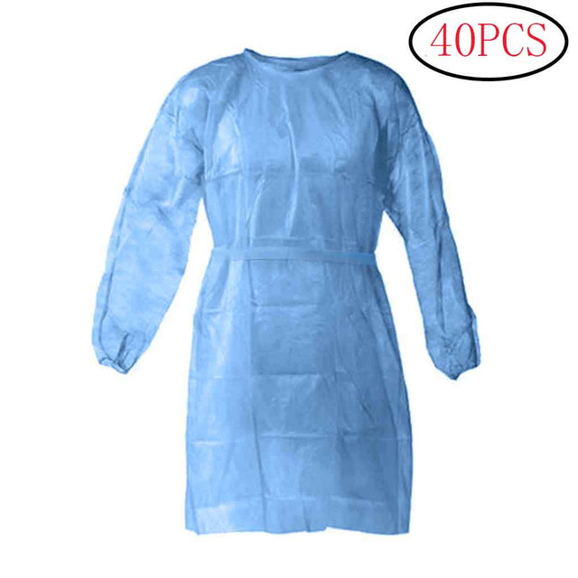 Disposable Protection Gown Dust Spray Suit Siamese Non-woven Dust-proof Anti-rain Splash Clothing Safely Protection Clothes 3