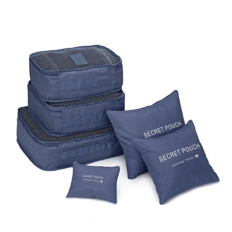 Местный запас 6 шт. водонепроницаемые дорожные сумки одежда чемодан Органайзер сумка Упаковка распродажа - Цвет: Зеленый