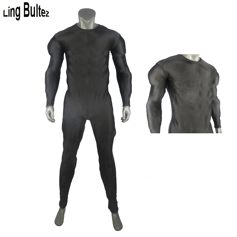 Ling Bultez High Quality New Black Relif Muscle Suit Muscle Padding Muscle Costume Basic Muscle Outfit For Cosplay