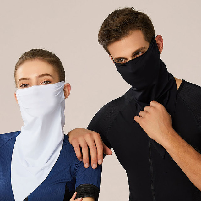 Summer Breathable UV Sun Protection Triangle Scarf Outdoor Cycling Face Mask 1