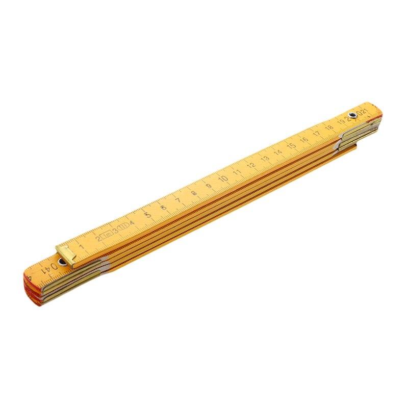 Portable Carpenter Wooden Folding Ruler