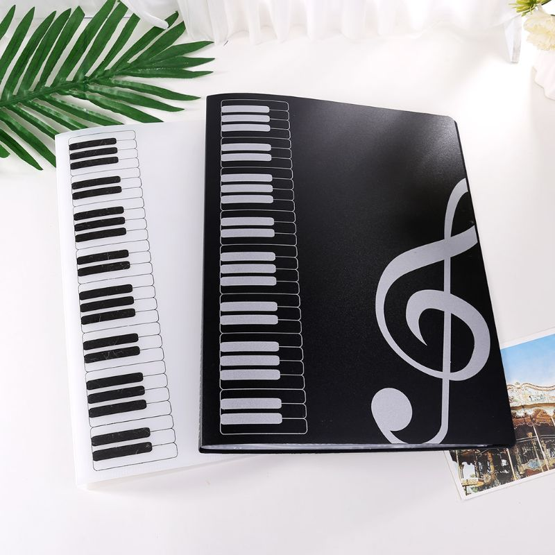 40 Pages A4 Size Piano Music Score Sheet Document File Folder Storage Organizer