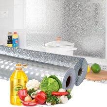Premium nano filme para cozinha à prova de óleo à prova dwaterproof água cozinha papel de parede adesivo folha alumínio gabinete auto adesivo