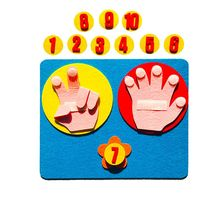 Children Maths Toys Finger Counting 1-10 Learning Kindergarten Mathematics Toy F3ME