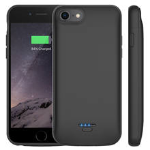 4000mAh For iPhone 6 6s 7 8 External Battery Charging Case Audio Jack Portable Power Bank Charger Protect Cover(China)