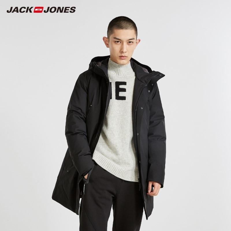 JackJones Men's Hooded Long Down Jacket Parka Coat Menswear 218412524