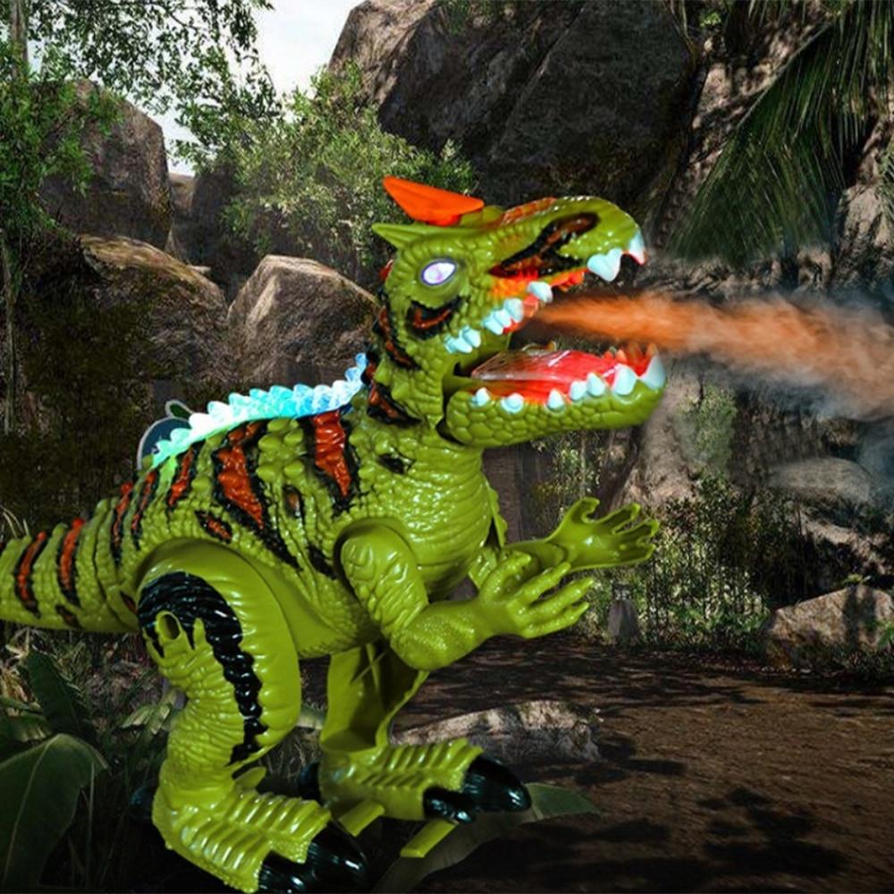 Dinosaur Creative Electronic Tyrannosaurus Rex Animal Sounds Dinobot Electric Walking Animals Toy Music Light Spray Toys