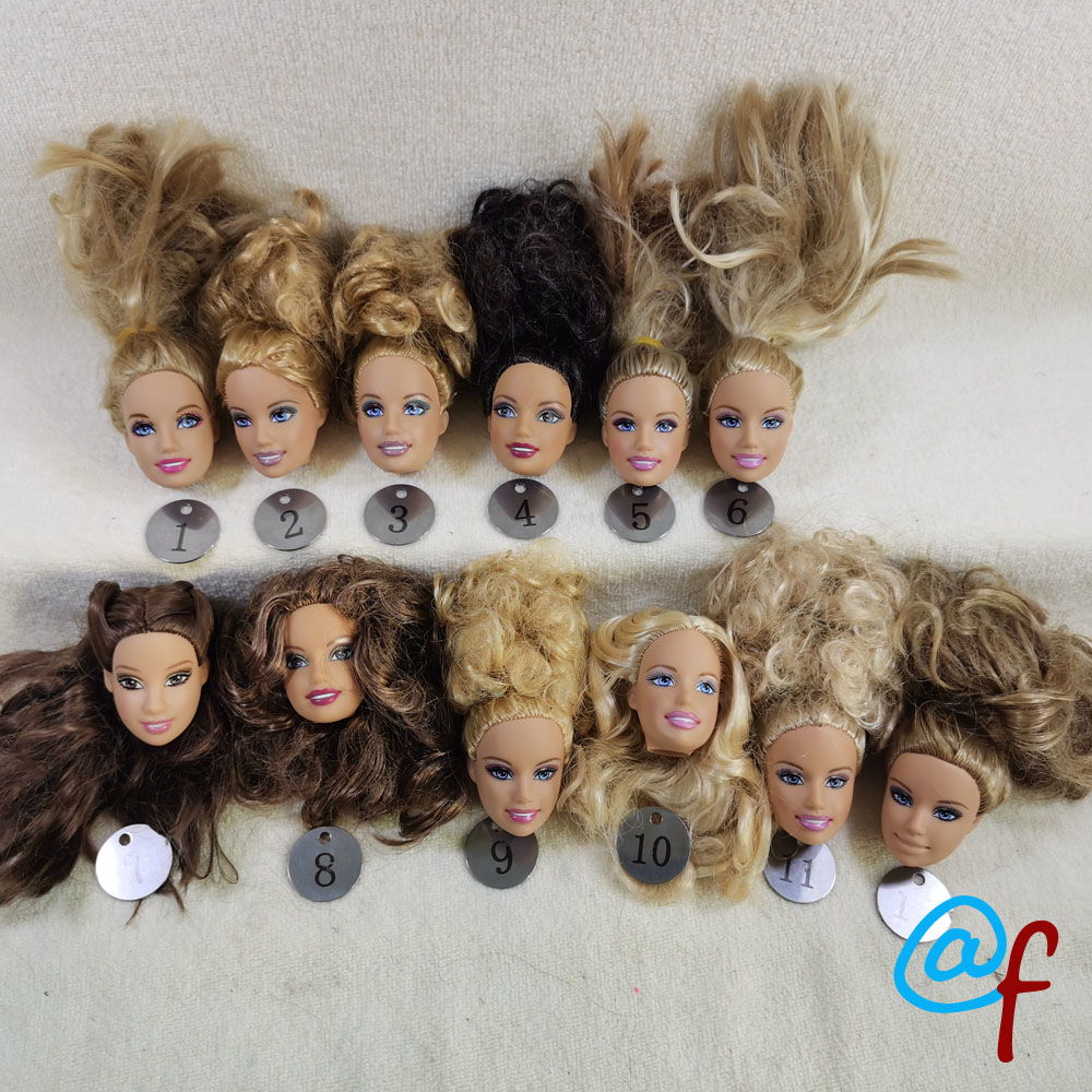 B3-3 Original Foreign Trade Africa Beauty 1/6 OOAK NUDE Rarely Doll Head Mussed Many Hair For DIY
