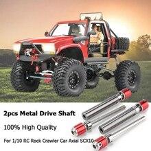 For 1/10 Rc Rock Crawler Car Axial Scx10 D90 2Pcs Front Rear Drive Shaft Drive Axle