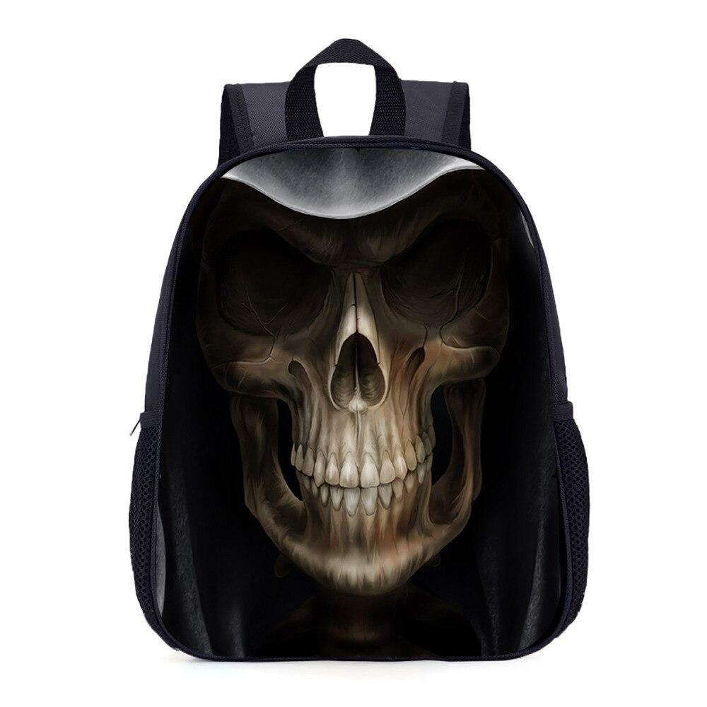New Style Hot Sales Horror Skull Kindergarten School Bag CHILDREN'S Rucksack 1 To 3 Grade Backpack Manufacturers