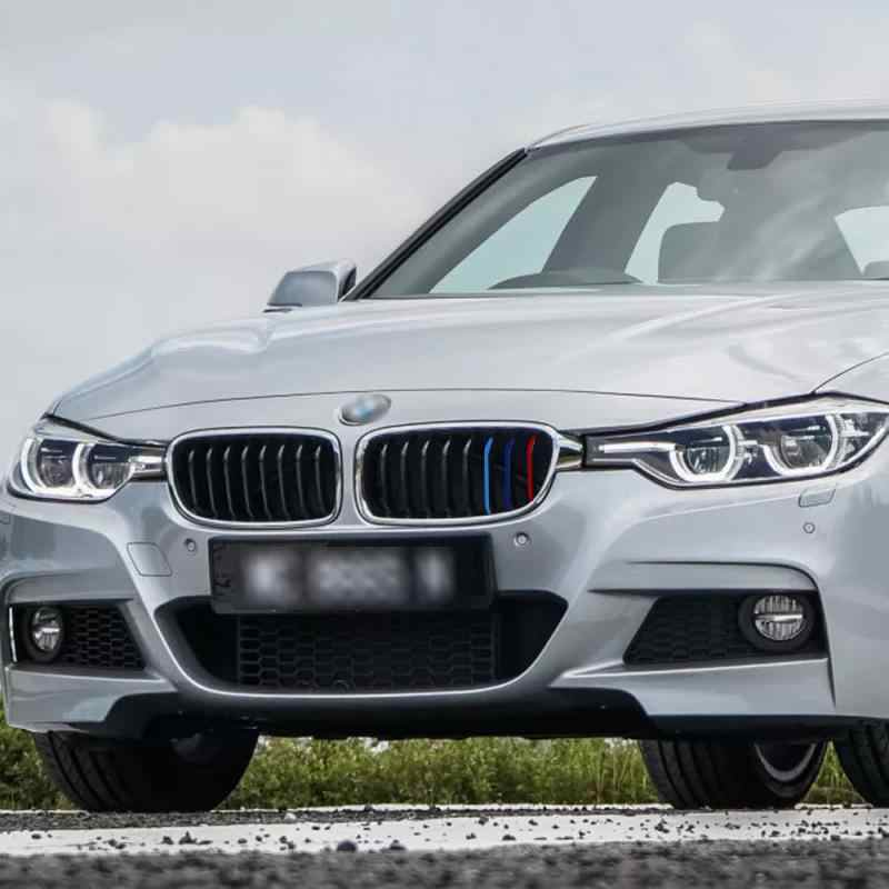3 X M Sọc Nhiều Màu Dán Xe Hơi Thận Dạng Lưới Tản Nhiệt Decal Phù Hợp Cho Xe BMW Series Phụ Tùng Ô Tô Phản Quang Decal Trang Trí phụ Kiện