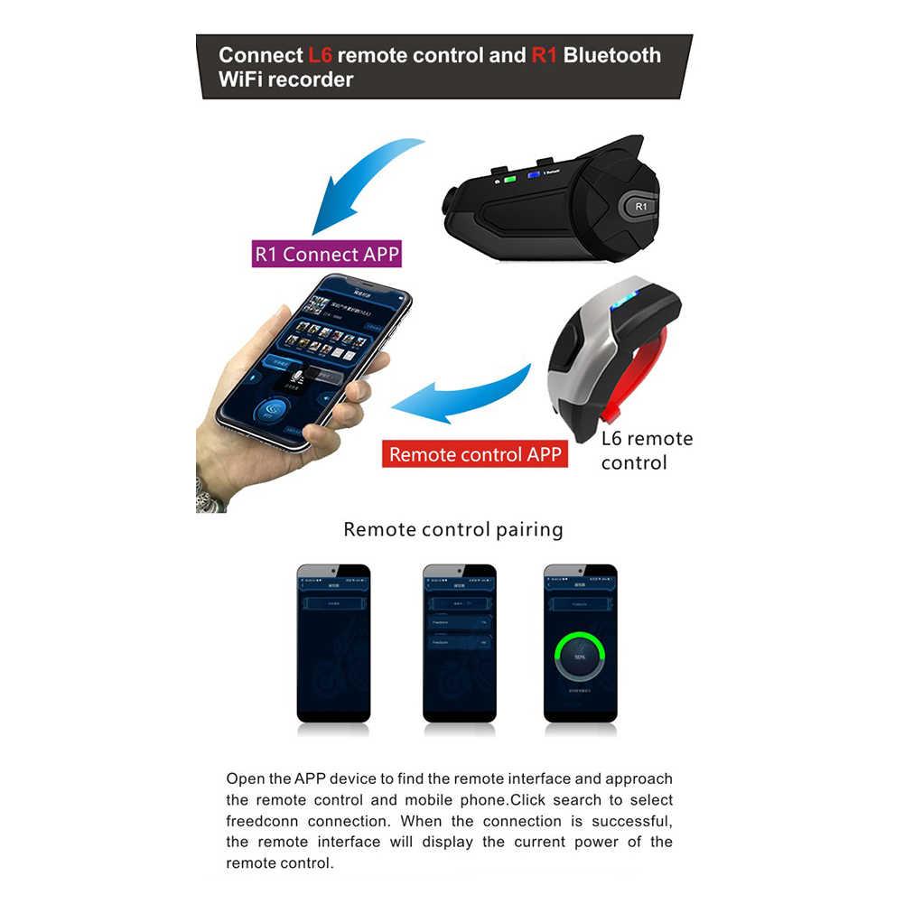 Impermeabile Boomless Mic Auricolare Bluetooth Casco R1 Moto Cuffie Bluetooth 4.1 Auricolare Casco Casco Citofoni