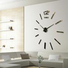 DIY 3D зеркальная поверхность большие цифровые настенные часы стикер зеркало для домашнего интерьера гостиной БОЛЬШИЕ ХУДОЖЕСТВЕННЫЕ дизайнерские настенные часы
