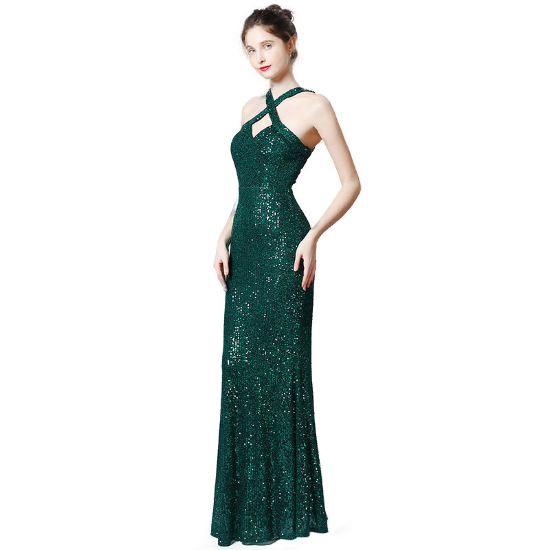 Sequin Evening Dress Long Robe De Soiree Abiye Gece Elbisesi Evening Gown Occasion Dresses For Women Long Dresses Evening 2020