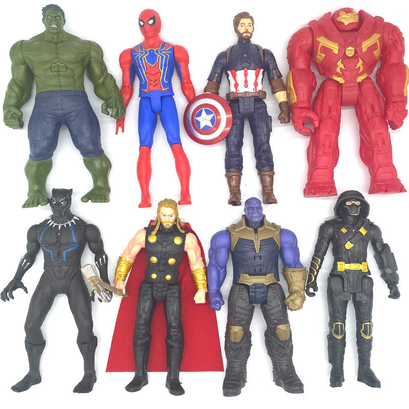 The Avengers Toys Spiderman Iron Man Black Panther  Action Figure Dolls Set of 6