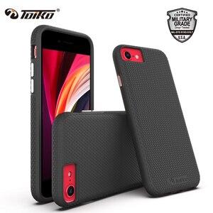 Image 1 - TOIKO X koruyucu 2 in 1 darbeye dayanıklı telefon kılıfı için iPhone 7 8 artı SE arka kapak tampon sağlam zırh hibrid TPU PC koruyucu kabuk