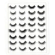 SOQOZ 16/7 คู่ขนตาปลอม 3D Mink Eyelashes Handmade Fluffy Eye Lashes Mink ขนตาแต่งหน้าขนตาปลอมหนา