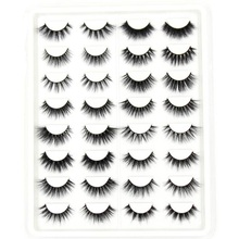 SOQOZ 16/7 Pairs False Eyelashes 3D Mink Handmade Fluffy Eye Lashes Real Makeup Thick Fake