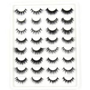 Image 1 - Soqoz 16/7 pares cílios postiços 3d vison cílios feitos à mão macio olho cílios vison real cílios maquiagem grosso cílios falsos