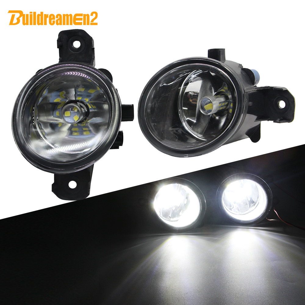 Buildreamen2 For <font><b>Renault</b></font> <font><b>Master</b></font> <font><b>3</b></font>/III Car H11 Fog Light Assembly Lampshade + Bulb DRL 12V Styling 2010 2011 2012 2013 2014 2015 image