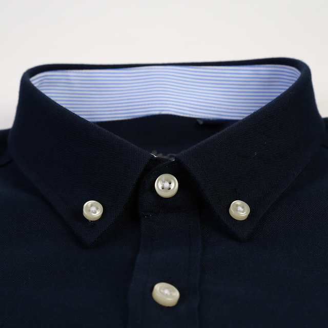 Casual Regular-fit Long Sleeve Solid Oxford Shirts 2