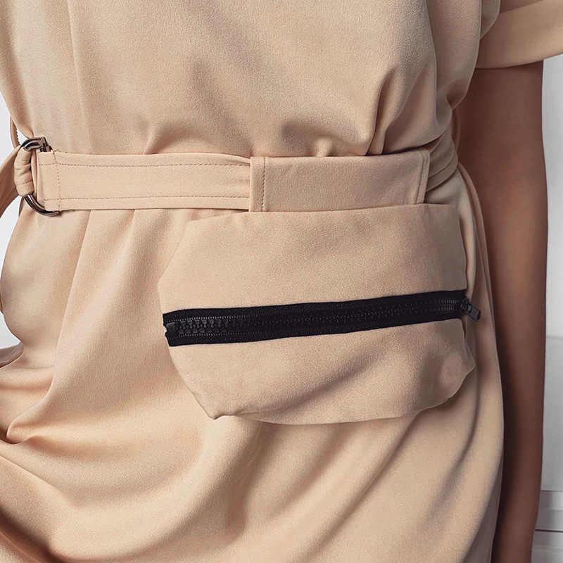 Wannathis o ネック半袖 a ラインドレス女性とベルトポケットカジュアルなソリッドカラーのファッション夏新ストリートパーティードレス