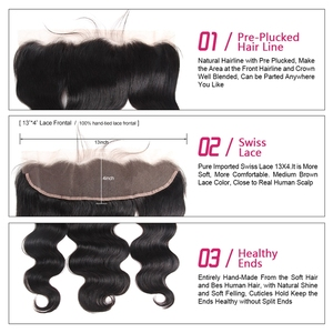 Image 4 - Meetu הודי גוף גל חבילות עם פרונטאלית מראש קטף שיער חבילות עם סגירת 13x6 חזיתי עם חבילות ללא רמי שיער טבעי