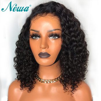 Newa Hair 360 Lace Frontal Wig With Baby Hair Brazilian Pre Plucked Lace Front Human Hair Wig For Women Water Wave Remy Wigs