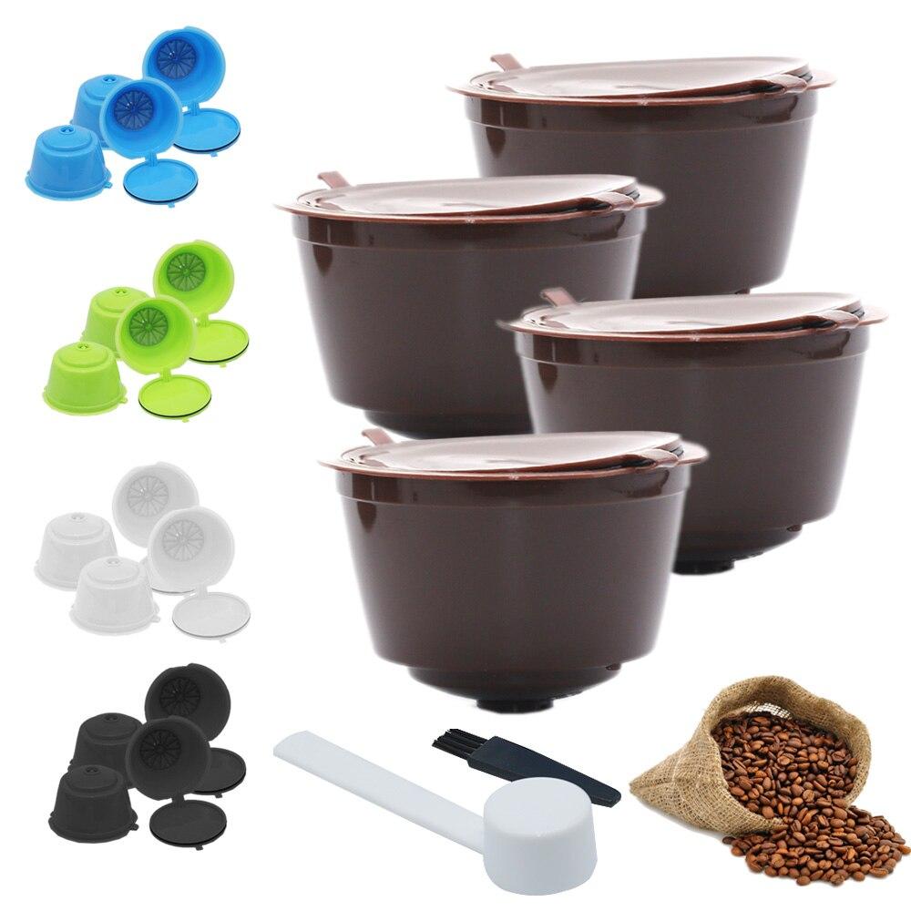 4 шт. фильтр для кофе многоразовая перезаправляемая кофейная капсула кофейные капсульные фильтры для Nespresso с ложка кисточка кухонные принадлежности|Фильтры для кофе|   | АлиЭкспресс