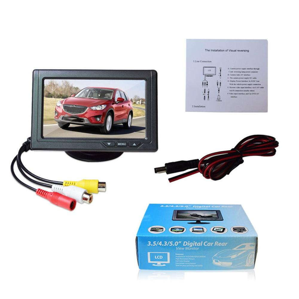 Lcd-Screen Car-Display Digital Video-Input Tft Hd Tv Reversing-Priority Two-Way Small title=