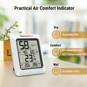 Image 2 - Thermopro TP50 גבוהה דיוק דיגיטלי מדדי לחות מדחום מקורה אלקטרוני טמפרטורת לחות מד לחות תחנת מזג אוויר