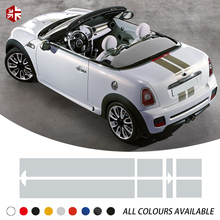 Car Hood Bonnet Stripe Sticker Trunk Rear Engine Cover Decal For MINI Cooper Coupe R58 Roadster R59 Carbio R57 JCW Accessories car hood tail sticker bonnet stripes engine cover trunk decal for mini jcw f56 john cooper works accessories car styling