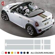 Autocollant à rayures pour capot de voiture, couverture de moteur arrière pour MINI Cooper coupé R58 Roadster R59 Carbio R57 JCW, accessoires