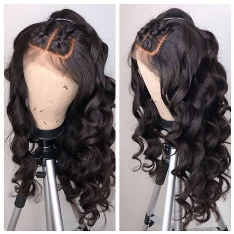 250 Density Loose Wave Glueless Full Lace Human Hair Wigs HD Transparent Brazilian 30 Inch Wigs For Women Pre-Plucked Remy