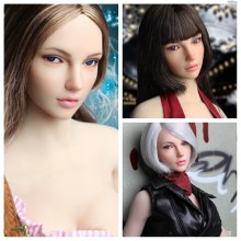 1/6 European Beauty Female Head Carving Movable Eyes SDDX01 Model for 12'' Pale Action Figure Body Accessory