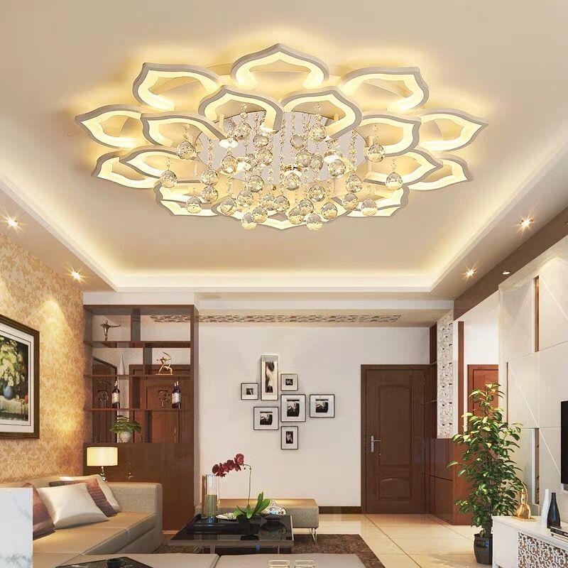 Modern Crystal LED Chandelier Ceiling Chandeliers Lights For Living Room Bedroom Kitchen Lustres Indoor Lighting Fixtures Light