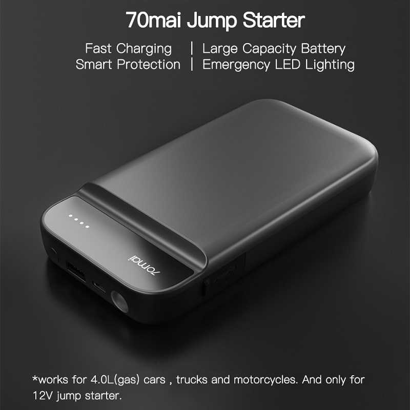 70mai Auto Jump Starter Power Bank 12V 600A Auto Starter Acculader Draagbare Auto Buster Emergency Booster Starten Apparaat
