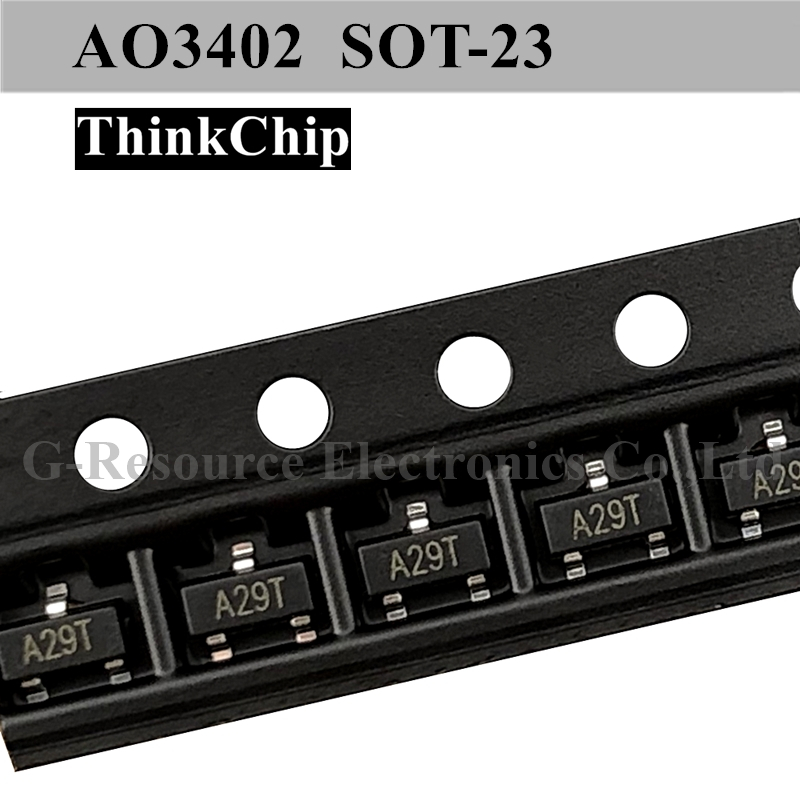 Free Shipping 50 Pcs / Lot AO3402 A29T SOT-23 N-Channel 30V 4A (Ta) 1.4W (Ta) SMD Mosfet Transistor New Original
