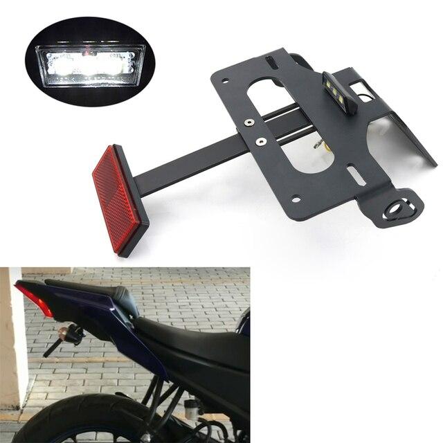 Para Yamaha YZF R15 R150 2017-2020 accesorios de la motocicleta trasera guardabarros limpio eliminador Kit de soporte para matrícula soporte negro