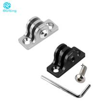 CNC Aluminum Low Angle Flat Bottom Adapter Base Connector Fixed Mount for Gopro Hero 7 6 5 4 3 Sjcam Yi Sport Action Video Cam
