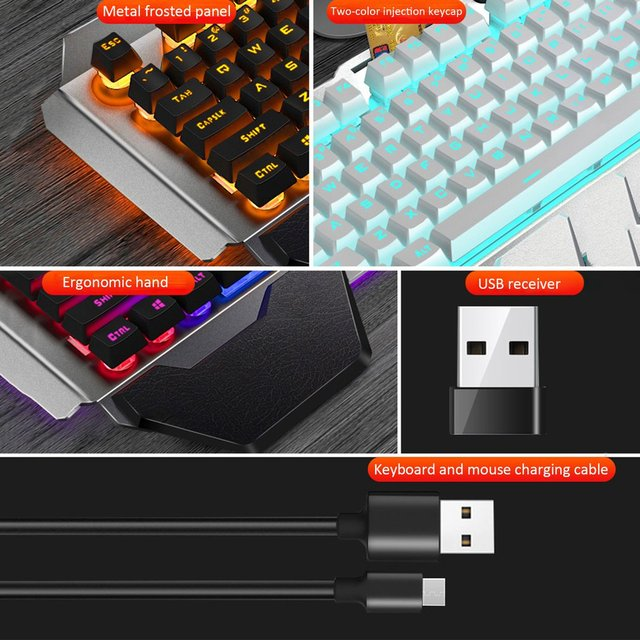 K680 Gaming keyboard and Mouse Wireless keyboard And Mouse Set LED Keyboard And Mouse Kit Combos 3