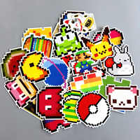 25 pcs nintendo pixel Cartoon Toy Stickers for Car Styling Bike Motorcycle Phone Laptop Travel Luggage Funny DIY Cute Decals