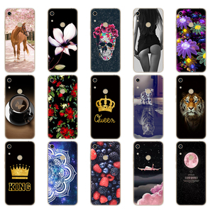 Image 3 - Onur için 8A kılıf Huawei onur için 8A başbakan durumda silikon TPU sevimli geri durumda Huawei onur 8A JAT LX1 kapak cep telefonu çantası