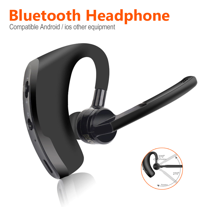 Newest <font><b>Bluetooth</b></font> Headset <font><b>Bluetooth</b></font> Business <font><b>Earphone</b></font> Microphone Headset Handsfree for Driving Car for iPhone Samsung Huawei image