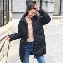 Winter Jacket Women 2019 New Long Cotton Thickening Loose Hooded Korean Coats Plus Size Winter Clothing Kurtka Zimowa Damska