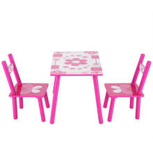 Chair-Set Flowers-Table Painting Kids Childrens Wooden School And Warehouse Studying