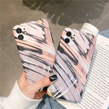 Moskado Fashion Stripe Graffiti Phone Case For iPhone 11 Pro Max X XR XS Max 7 8 Plus SE Camera Protection Soft IMD Back Cover(China)